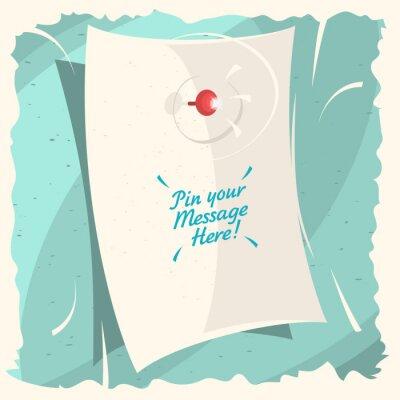 Pin Ihre Nachricht hier! Eine Nachricht Auf Der Unbelegten Gewellten Papier Blatt.