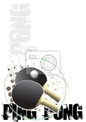 Ping-Pong-Kreis Plakat Hintergrund