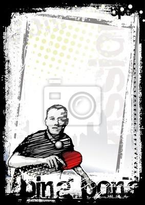 Ping-Pong-Poster Hintergrund