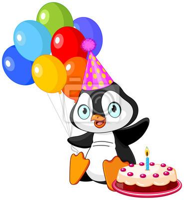 Pinguin Feiert Geburtstag Fototapete Fototapeten Flugel Pinguin