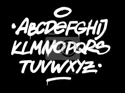 Pinsel Hand Stil Schriftart. Vektor-Alphabet