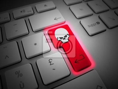 Fototapete Pirata Virus