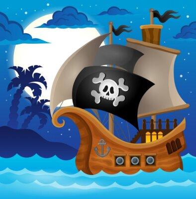 Fototapete Pirate ship topic image 2