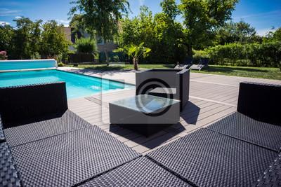 Piscine Terrasse Und Salon De Jardin Fototapete Fototapeten