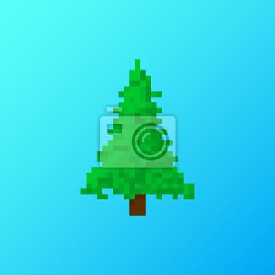 Weihnachtsbaum Spiele.Fototapete Pixel Weihnachtsbaum Für Spiele Und Anwendungen