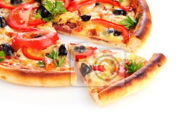 Pizza isoliert auf weiß