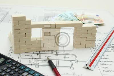 Fototapete Planen Finanzieren Und Bauen