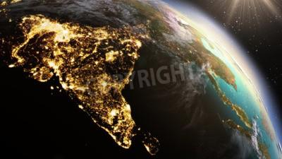 Fototapete Planet Erde Asien Zone. Elemente dieses Bildes von der NASA eingerichtet