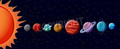 Fototapete Planeten in Sonnensystem Abbildung