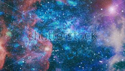 Fototapete Planeten, Sterne und Galaxien im Weltall zeigen die Schönheit der Weltraumforschung. Von der NASA eingerichtete Elemente