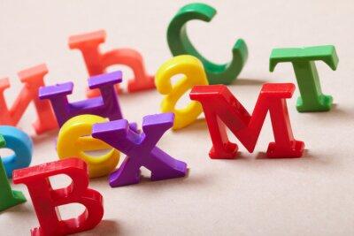 Fototapete Plastic Alphabet Buchstaben