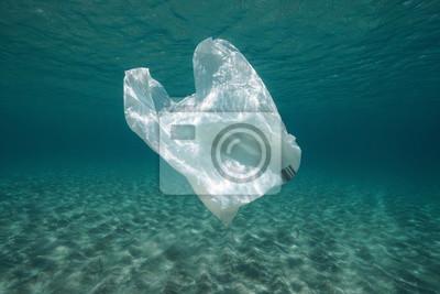 plastic waste underwater a plastic bag in the. Black Bedroom Furniture Sets. Home Design Ideas