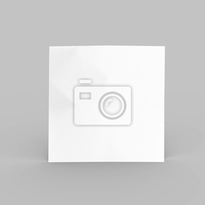 Platz flyer und poster mock-up-vorlage, 3d-illustration fototapete ...