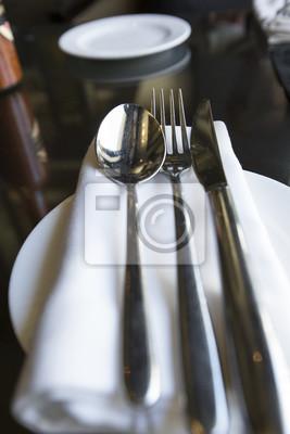 Platzeinstellung im Restaurant