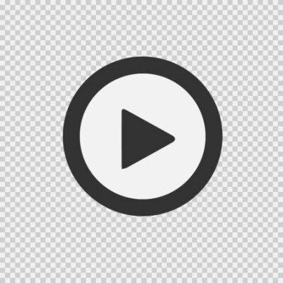 Fototapete Play button vector icon. Vector illustration
