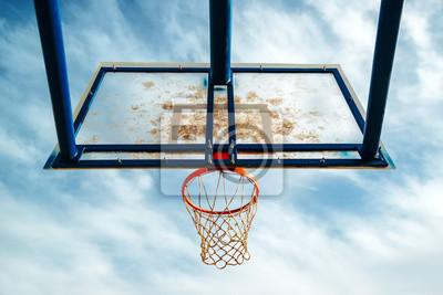 Plexiglass Street Basketball-Board mit Reifen auf Außengericht