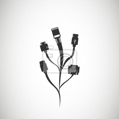 Plug draht kabel computer abstrakte draht hintergrund vektor ...