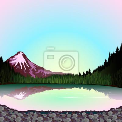 Pnk Berg am Sonnenuntergang
