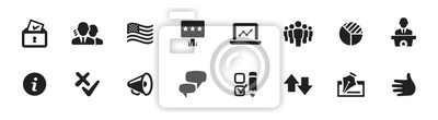 Fototapete Politics, Government, and Voting Icon Set (vector icons)