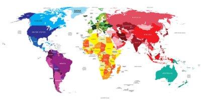Fototapete Politische Karte der Welt