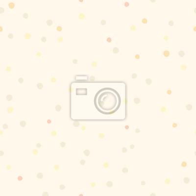 Polka dot Hand zeichnen nahtlose Muster. Vintage-Vektor-Hintergrund Pastell beige Farbe. Minimalistische Hintergrund