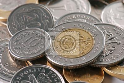 Polnische Münzen In Close Up Fototapete Fototapeten Fonds Jackpot