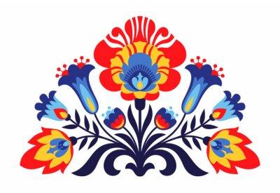 Fototapete Polnische Volksinspirierte Blumen