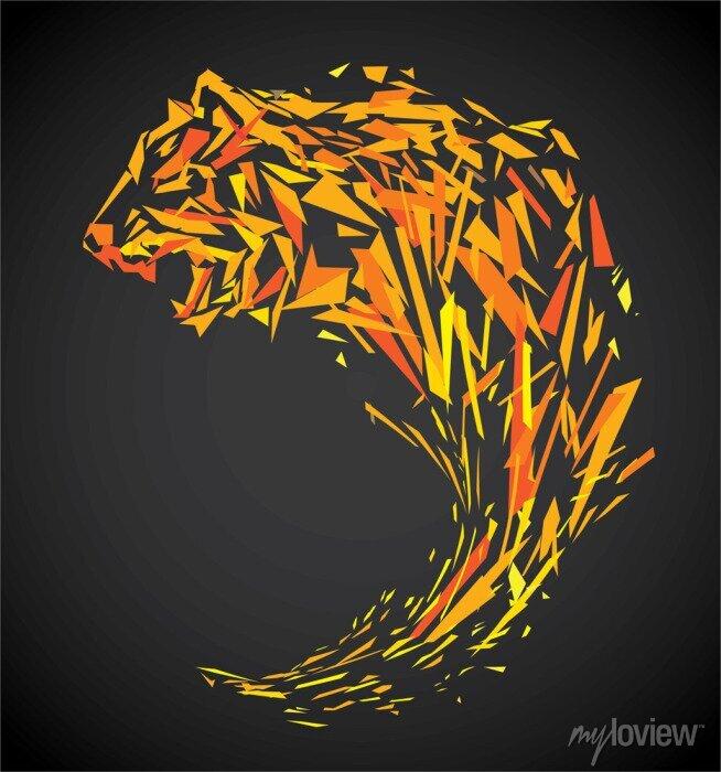 Fototapete Polygon Tiger