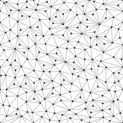Fototapete Polygonal background, seamless pattern, lines and circles