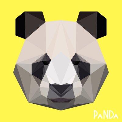 Fototapete Polygonal geometrisches Panda-Porträt