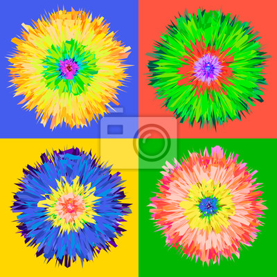 Pop-Art-Blume, Vektor-EPS 10 Abbildung.