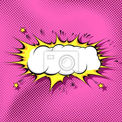Cloud Template | Pop Art Comic Book Cloud Background Template Fototapete