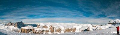 Fototapete Pordoi italienischen dolomiten panorama landschaft