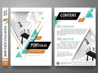 Portfolio Design Vorlage Vektor Layoutminimal Broschüre Design
