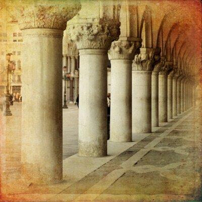 Fototapete Portico di Palazzo Ducale, Venedig