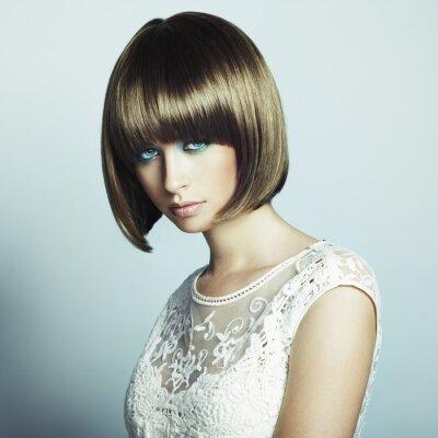 Fototapete Portrait der schönen sinnliche Frau mit eleganten Frisur