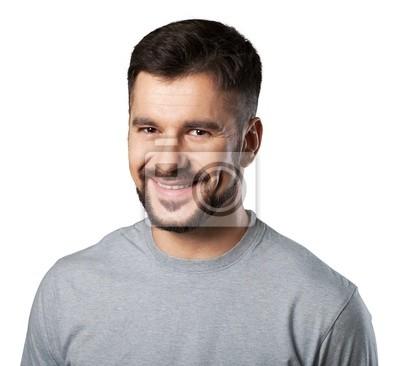 Portrait eines lächelnden Mann mit einem weißen Hemd