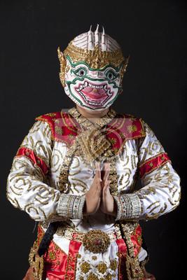 Portrait hanuman Krieger, der Gott der Affen