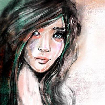 Fototapete Portrait illustration