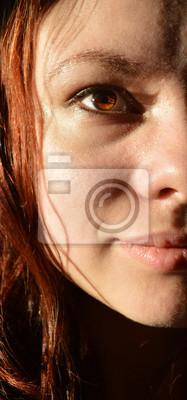 Haare rote braune augen Haare Rot