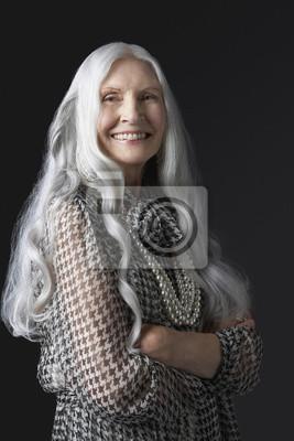 Langen ältere frau haaren mit Ältere Frauen