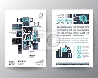 Poster broschüre flyer design layout vektor-vorlage fototapete ...