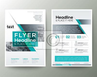 Poster broschüre flyer design layout vektor vorlage fototapete ...