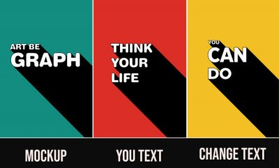 Fototapete poster template set  3D Text Effect Mockup posters you can change text