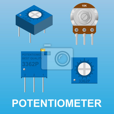 Potentiometer variabler widerstand fototapete • fototapeten ...