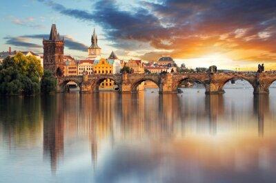 Fototapete Prag - Karlsbrücke, Tschechische Republik