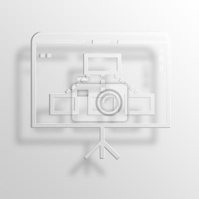 Präsentationstafel 3d papier icon symbol business konzept fototapete ...