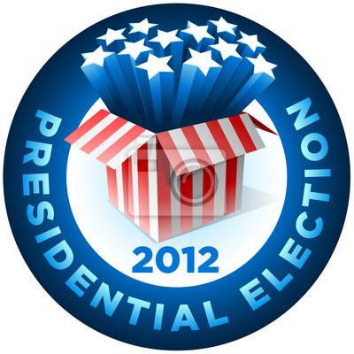 Präsidentschaftswahl Badge