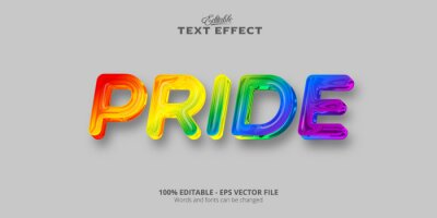 Fototapete Pride text, editable colorful style text effect