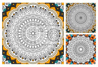 Fototapete Printable Antistress Ausmalbilder Für Erwachsene Mandala Design